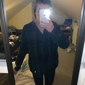 Urban outfitters flannel with hood